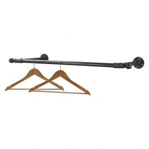 Raw Steel Clothing Rails
