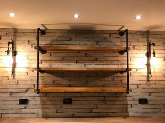 Reclaimed Wood Wall Bedroom Rustic