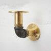Brass and Black Elbow Bracket