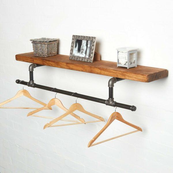 Custom-Size-Pipe-Clothing-Rail-Black-with-Photo-Frame