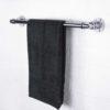 industrial-steel-chrome-towel-rail-with-silver-flanges-dark-grey-towel