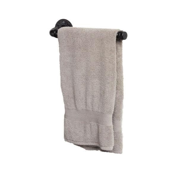 Hand-Bath-Towel Rail-Black-with-towel
