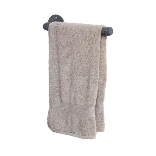 Hand-Bath-Towel Rail-Grey-with-towel