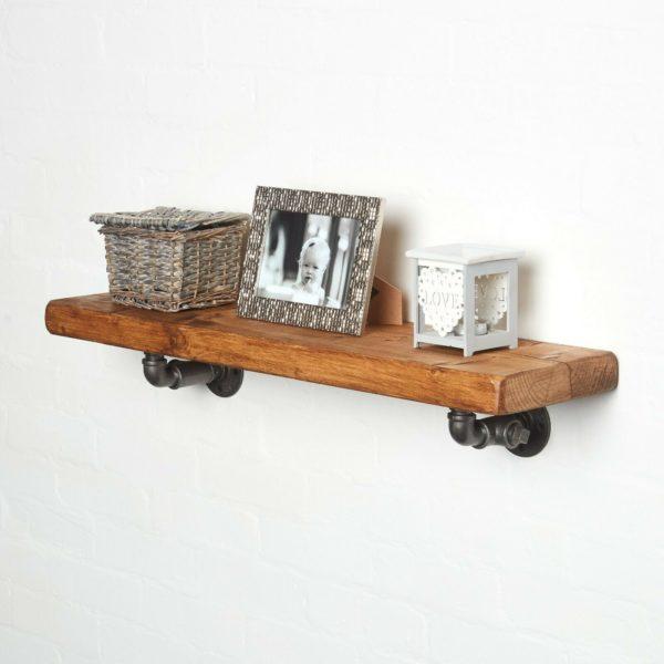 Pipework-shelving-brackets-with-photo-frame-shelf