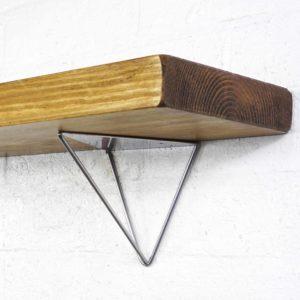 Silver Hairpin Shelf Bracket