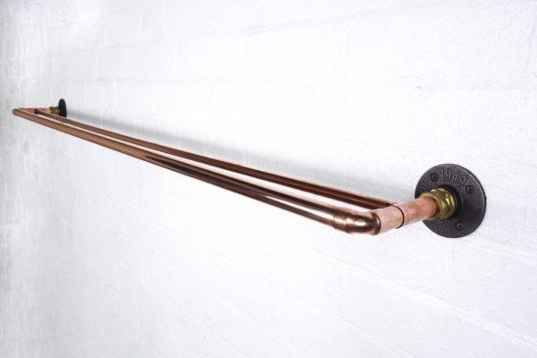 double copper curtain rail