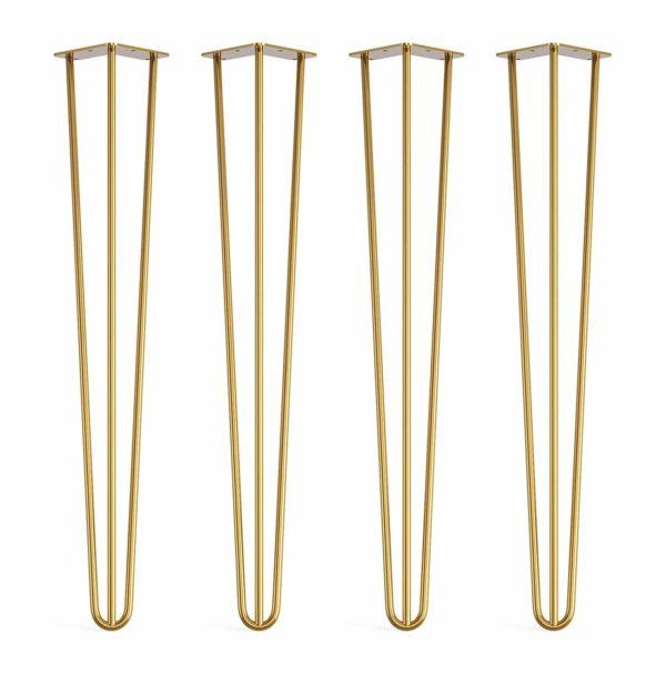 gold hairpin legs