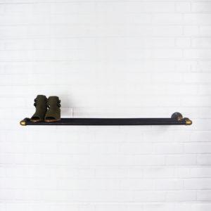 Raw Steel & Brass Shoe Stands