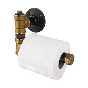 Raw Steel & Brass Toilet Roll Holders