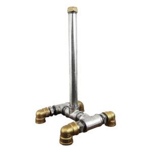 Industrial Silver & Brass Kitchen Roll Holders